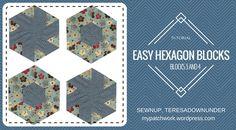 Video tutorial: Hexagon quilt block 3 and 4