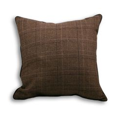 Courcheval Check Cushion Brown | Check Cushion | UK Delivery