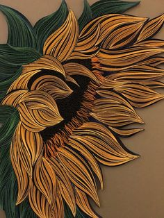 Sunflower Quilling Wall Art Painting with 1/8 3mm
