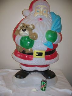 christmas blow mold yard decoration santa claus 41 empire plastic light up 87
