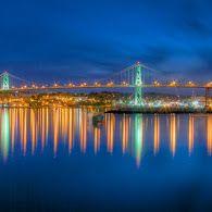 Nova Scotia - McKay or McDonald Bridge connecting Halifax and Dartmouth. Saint John New Brunswick, Atlantic Canada, Acadia National Park, Prince Edward Island, Green Gables, Going Home, Night Lights, Nova Scotia, Cityscapes