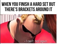 When you finish the first round of a hard set and realize the pain is just getting started:   24 Pictures That Will Actually Hit A Little Too Close To Home For Swimmers