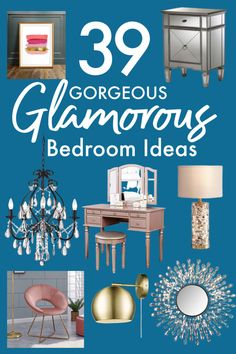 A glam bedroom is luxurious and you deserve luxurious! It doesn't have to be hard to achieve. I've collected all of the best glam bedroom decor ideas for you!