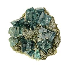 Fluorite with Quartz and Pyrite from Morocco