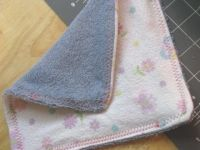 Cloth baby wipes..I used 2 layers of flannel for a couple dozen of these.  there are SOO many uses for them, for kids and the house in general. Super handy to have, very easy to make!