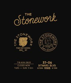 the stonework