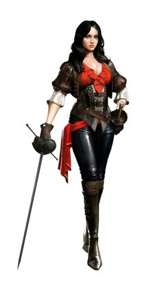 Female Human Swashbuckler - Pathfinder PFRPG DND D&D d20 fantasy