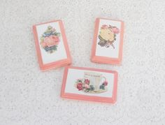 Shabby Chic/Cottage Decor Peach and White by RosebudsOriginals, $15.00