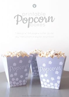 Printable Retro Popcorn Boxes - Ducks all in a row