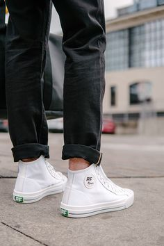 PF Flyer's Center Hi White - 20% Off + Free 2 Day Shipping