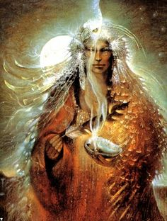 "Art by Susan Seddon Boulet. I am very much attracted to Shamanism, and if there were any sort of ""path"" I would follow this would be it."