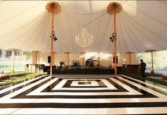 13 Ways to Customize Your Dance Floor | Photo by: Photo: The Skyline Tent Company | TheKnot.com