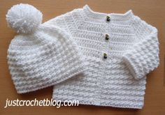 Crochet baby glitz coat-hat uk a free crochet pattern for a chest month baby, made in a UK double knitting glitz yarn on and crochet. Crochet Baby Cardigan Free Pattern, Baby Booties Free Pattern, Crochet Baby Jacket, Crochet Baby Sweaters, Baby Sweater Patterns, Crochet Baby Clothes, Crochet Baby Hats, Baby Knitting Patterns, Free Crochet
