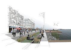 Unbuilt San Francisco: Grand Visions,Pier 70 Waterfront Site / Forest City, AECOM and Urban SiteLab