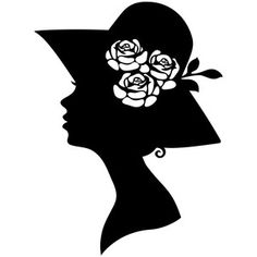 I think I'm in love with this design from the Silhouette Design Store! Silhouette Vector, Silhouette Portrait, Silhouette Design, Silhouette Cameo, Silhouette Pictures, White Prints, Fancy Hats, Quilling Patterns, Stencil Templates