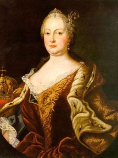 maria theresia | Maria Theresia wearing clasped bodice probably by Martin van Meytens ...