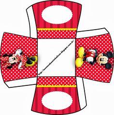 Minnie y Mickey: Cajas para Imprimir Gratis.