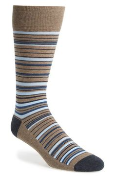 Free shipping and returns on Nordstrom Men's Shop 'Cushion Foot' Stripe Socks (3 for $30) at Nordstrom.com. Made for comfort, well-cushioned socks knit from a stretch-cotton blend are patterned in multi-size stripes.