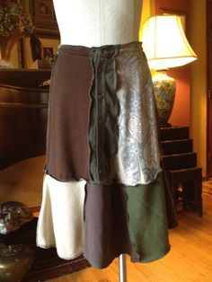 Recycled Upcycled Sweater Skirt Medium to by danamurphydesigns, $46.00