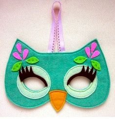 Owl felt mask by frannyupnorth