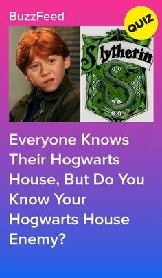 Everyone Knows Their Hogwarts House, But Do You Know Your Hogwarts House Enemy? Harry Potter Quiz Buzzfeed, Harry Potter Life Quiz, Harry Potter Jokes, Hogwarts House Traits, Which Hogwarts House, Hogwarts Houses, Quizzes For Kids, Fun Quizzes To Take, Random Quizzes