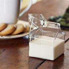 Jarra de vidrio con forma de minibrick de leche de Selección Cocina