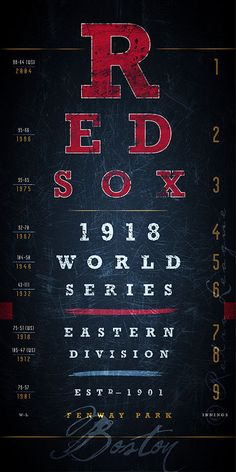 Boston Red Sox Vintage Sports Eye Chart