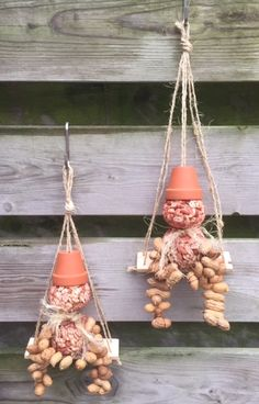 FullSizeRender - Apocalypse Now And Then Nature Crafts, Fall Crafts, Diy And Crafts, Decorative Bird Houses, Diy Bird Feeder, Bird Feathers, Garden Projects, Plant Hanger, Diy For Kids