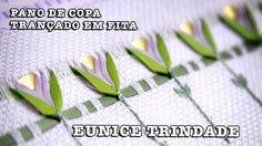 30/07/2014 - Pano de copa com trançado em fita (Eunice Trindade)