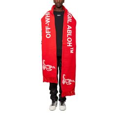 Scorpion big scarf from the S/S2017 Off-White c/o Virgil Abloh collection in red