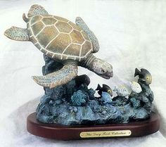 Sea Turtle with Fish Statue