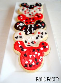 It's a tie! Between the Banana Cream Pie and the Mickey Mouse Cookies, the latter was my favorite, so th. Mickey Mouse Clubhouse Birthday, Mickey Party, Mickey Mouse Birthday, Mickey Minnie Mouse, 2nd Birthday, Birthday Ideas, Mickey Mouse Cookies, Disney Cookies, Galletas Cookies