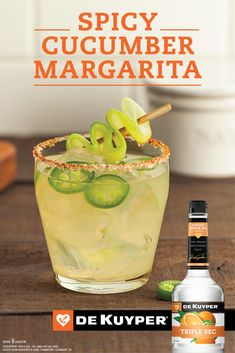 Crank the heat up with a spicy margarita recipe that will leave you thirsting for more. Fiery jalapeño creates a burning heat while zesty citrus is added to cool things off. Mix in triple sec and crystal clear tequila for a mischievous and fiery margarita that is a perfect twist to taco night.