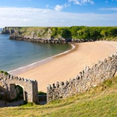Barafundle Bay Beach, voted one of the best beaches in the UK, Pembrokeshire, Wales