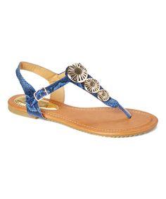 Blue Snake Metallic  Sandal