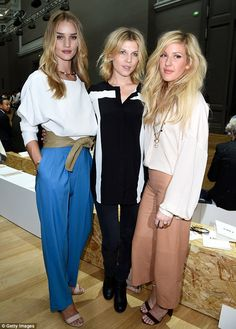 Rosie Huntington-Whiteley, Clemence Poesy, and Ellie Goulding.. PFW..
