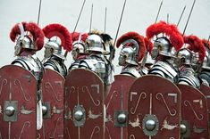 The Roman legionary was a well-trained and disciplined foot soldier, fighting as part of a professional well-organized unit, the legion (Latin: legio), established by the Marian Reforms. While major tactical changes appeared during the final days of the Roman Republic and the early days of the Roman Empire, Roman armor and weapons, albeit with minor adaptations, remained simple: a cuirass, a spear, a sword, a shield, and a helmet. Ancient Rome, Ancient History, Roman Armor, The Centurions, History Encyclopedia, Roman Republic, History Education, Latest Images, History Museum