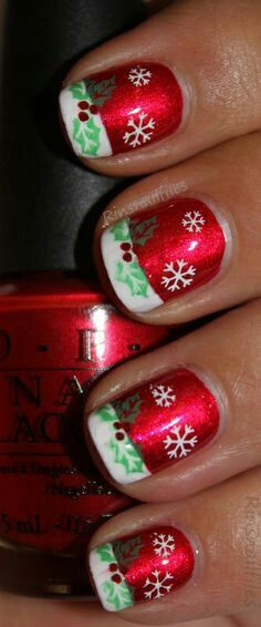 Cool christmas snow nail art
