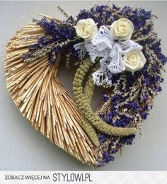 Craft Oasis: Wreaths ​​from straw ♥ Valentine Decorations, Valentine Crafts, Flower Decorations, Lavender Crafts, Lavender Wreath, Lavander, Ikebana Flower Arrangement, Flower Arrangements, Flower Factory