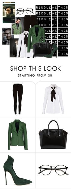 """""""Edward Nygma a.k.a. The Riddler"""" by sirencaller ❤ liked on Polyvore featuring Diane Von Furstenberg, Annarita N., Givenchy and Casadei"""