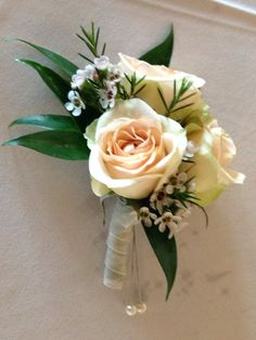 Corsage of Ivory spray roses
