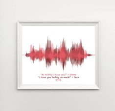 Fathers Day Gift from Kids, Fathers Day Gifts for Him, for Men - Personalized Gift Idea, Voice Art, Voiceprint, Sound Wave Art