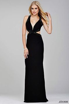 Cut Out Jersey Gown 32383