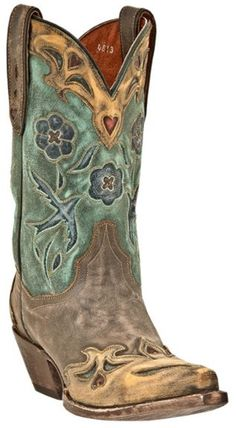 Dan Post Blue Bird Wingtip Cowgirl Boots - Snip Toe available at #Sheplers