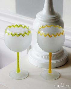 diy-frosted wine glasss