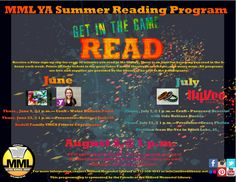 Check out MML's Teen Summer Reading Program Schedule!