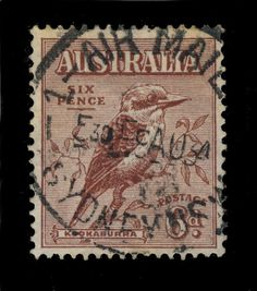 AUSTRALIA - 1934 - CDS  1-AIR MAIL-1 / SYDNEY N.S.W.  ON 6d RED-BROWN SG146