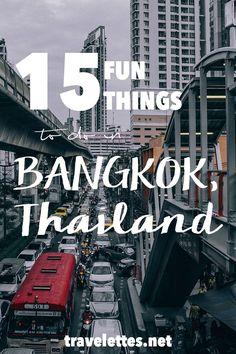 15 fun things to do in Bangkok