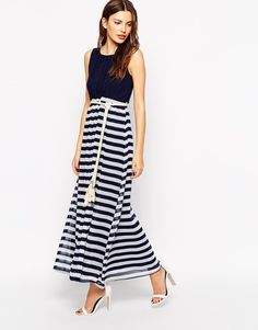 Pin for Later: Is Riviera Chic the Most Stylish Summer Look? Mais Oui Club L Nautical Maxi Dress with Rope Belt Club L Nautical Maxi Dress with Rope Belt (£28, originally £50)
