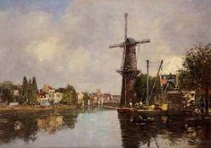 42359 Eugene-Louis Boudin - View of Rotterdam - Photopaint